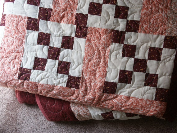 Handsewn X-Large Quilt- Beautiful Craftsmanship and Colors