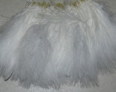 1/4 oz. WHITE Strung Blood Quill Marabou Feathers crafts, earings & jewelry