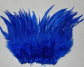 1/4 oz. Strung Royal Blue Saddle Hackle Feathers (5 to 7 inches in length) - crafts, earings & extensions