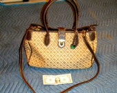 Dooney & Bourke BIG purse, bag, Tan and Brown leather