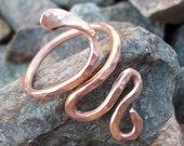 Copper Snake Charmer Toe Ring
