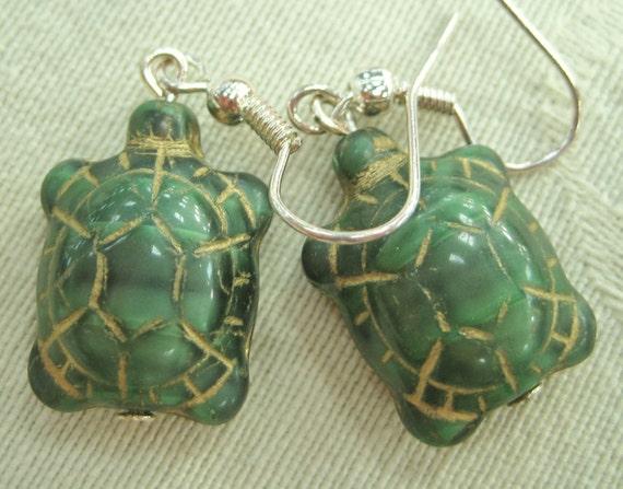 Tortoise (turtle) earrings
