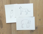 Biro art postcards - pack of three