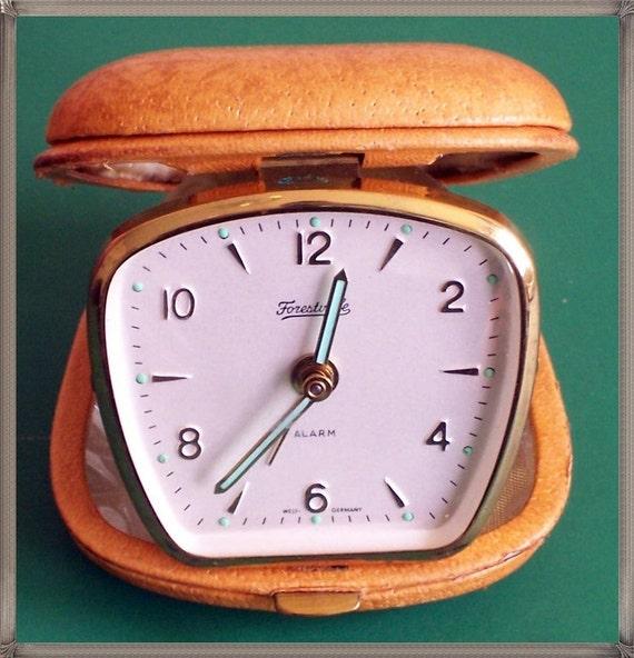 Vintage German made Folding Traveling alarm clock
