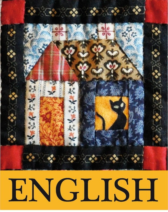 ENGLISH PDF Pattern Building Houses from Scraps quilt