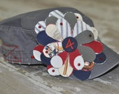 Custom-MOM Distressed Flower Baseball, Football, Soccer, Softball, or any sport you choose Cadet Hat