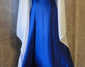 Royal Blue and White Renaissance Style Dress