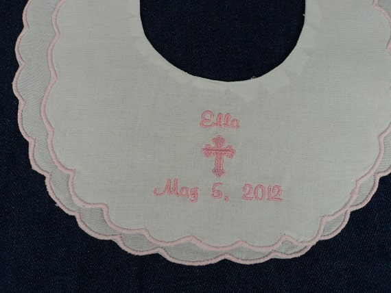 Fancy Cotton Dress Bib suitable for Baptism, Christening or Dedication or other special occasions