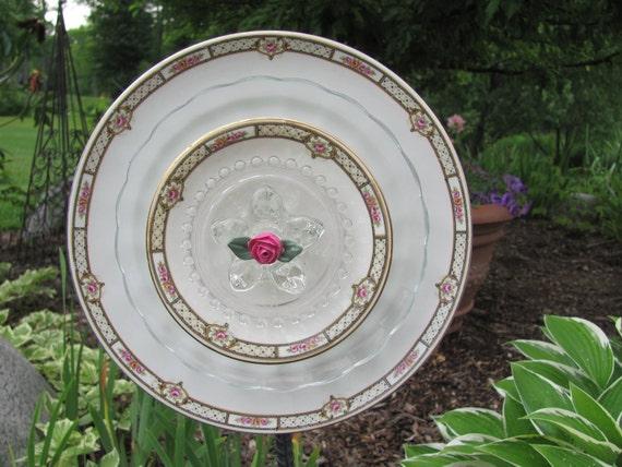 """Vintage Garden Art Flower- """"Simply Little Roses"""""""
