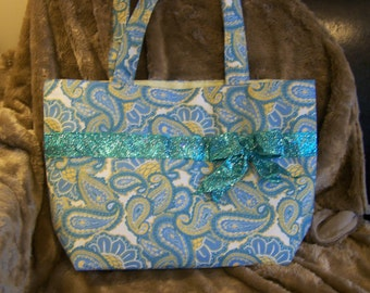 Glamour Blue and yellow Purse