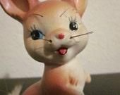 Kitsch 1950s Rabbit Figurine. Made in Japan.