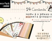 Creative Works DIARY STICKER Set: 14 Sheets ( Kraft Tape, Deco Tape,  Messages, Pattern)