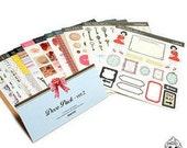 Creative DECO STICKER Pack Ver. 2 (Frame label, Button, Air Mail, Paris : 16 sheets)
