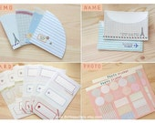 Daily STICKER Set : RETRO Style 10 Sheet (vintage style labels, airmail stickers, Eiffel tower, decorating masking tape)