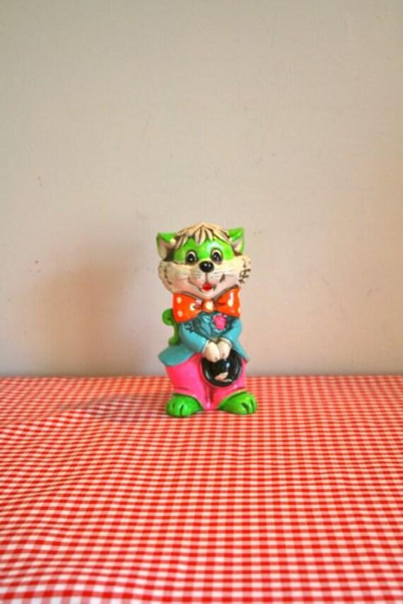 vintage piggy bank - HOLIDAY FAIR ceramic cat piggy bank