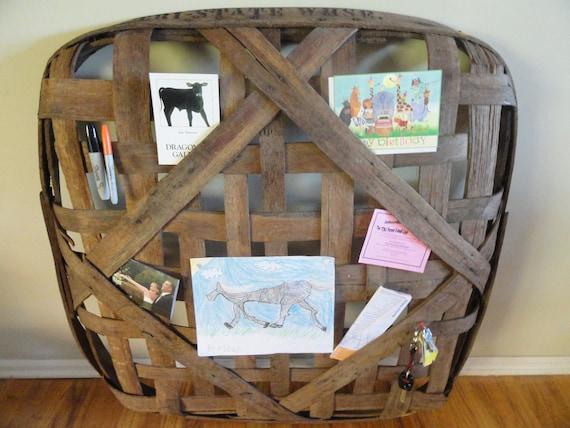 Vintage Tobacco Basket/Wall Hanging