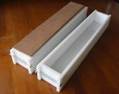 2 hdpe 6 LB Soap Molds, 2 Wooden Lids makes 42 Bars E.