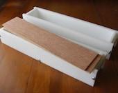 2 hdpe 5 LB Soap Molds, 2 Wooden Lids makes 36 Bars