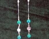 Azurite-Malachite Dangle Earrings - Stone Earrings