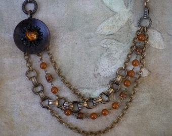 1920s Vintage Assemblage Necklace by Modifeye
