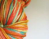 Hand Painted Superwash Merino / Nylon Sock Yarn - Jelly Belly
