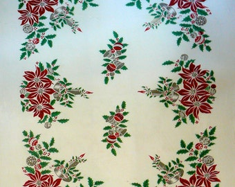 Vintage Tablecloth with a Wonderful Christmas Design