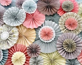Pink, Purple, Gray, Ivory and Brown Ka-Lollie Paper Rosette Backdrop / Wedding/ Shower/ Nursery (as featured on party blogs)