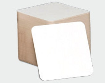 300 Blank Coasters 4 Inch Square 2 mm Heavy Weight perfect for Mini Scrapbooks and Letterpress