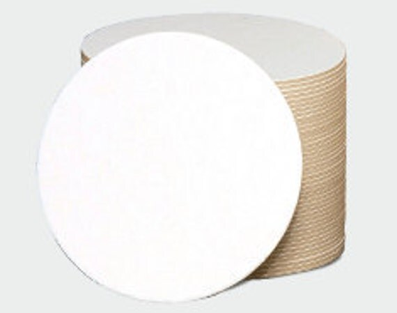 100 Blank Coasters  3.5 Inch Round 2 mm   Heavy Weight perfect for Mini Scrapbooks and Letterpress