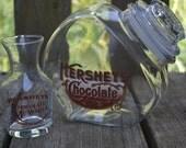 NEW LOW PRICE Vintage Hersheys Chocolate Cookie Jar and Milk Glass