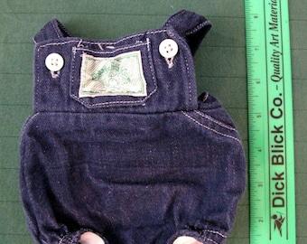 Vintage 1980s Cabbage Patch Kids outfit - denim romper