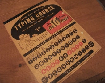 Crim's Typing Course, 1945 - ships FREE in USA