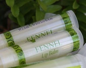 Chapstick - Shea Butter lip balms - THREE organic shea butter & essential oil FENNEL chapsticks - wildvioletta