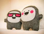 Bambak, adorable pink cheeks stuffie, woodland animal, geek toy, best friend, soft toy, cute bear creature, kawaii plushie, handmade