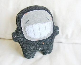 Bambak, big smile stuffed creature, best friend, geek toy, girlfriend gift, cute creature, kawaii plushie, comforter, boyfriend gift,