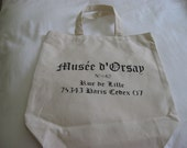 French inspired stenciled Tote Bag