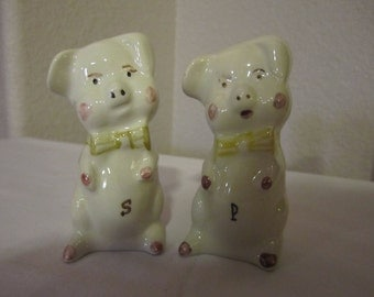 Piglet salt & pepper shaker set