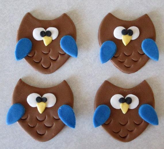 Owl Cupcake/Cookie Toppers - 1 Dozen