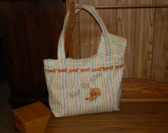Diaper Bag and Changeing Pad with Embroidery