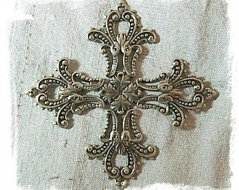 Silver Ox Maltese Cross