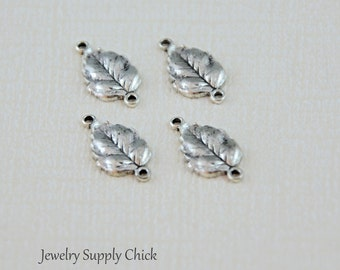 Leaf connectors silver ox (x4)