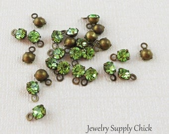 Peridot crystal 4mm drop (x12)