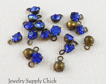 Sapphire crystal 4mm drop (x12)