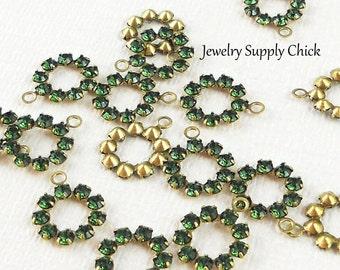 Swarovski Crystal Circle  Green Turmaline (x6)