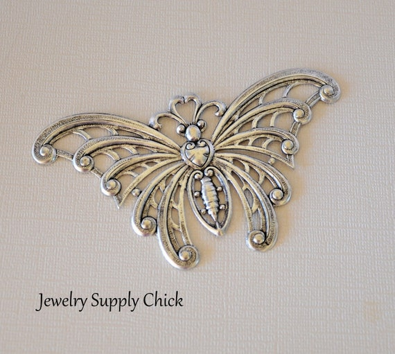 Butterfly sterling silver ox
