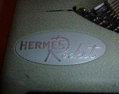 Sale - Classic  Hermes Rocket 1950s Manual Typewriter with original leather case - see ROCKET EMBLEM