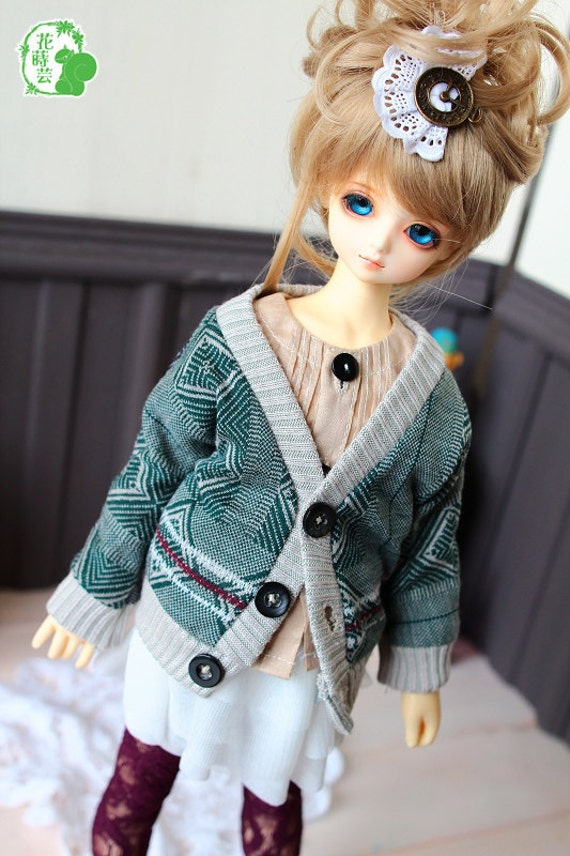 SAYOKO outfit LUTS dollfie 1/4 BJD Celadon Retro Knitted Coat