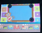 Little Boy & Monkey - Scrapbooking Refrigerator Photo Frame Magnet - get it personalized