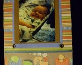 Little Boy & Train - Scrapbooking Refrigerator Photo Frame Magnet - get it personalized