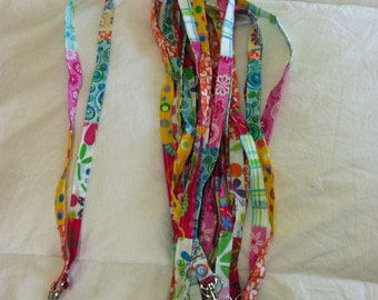 Bright Patchwork Lanyard